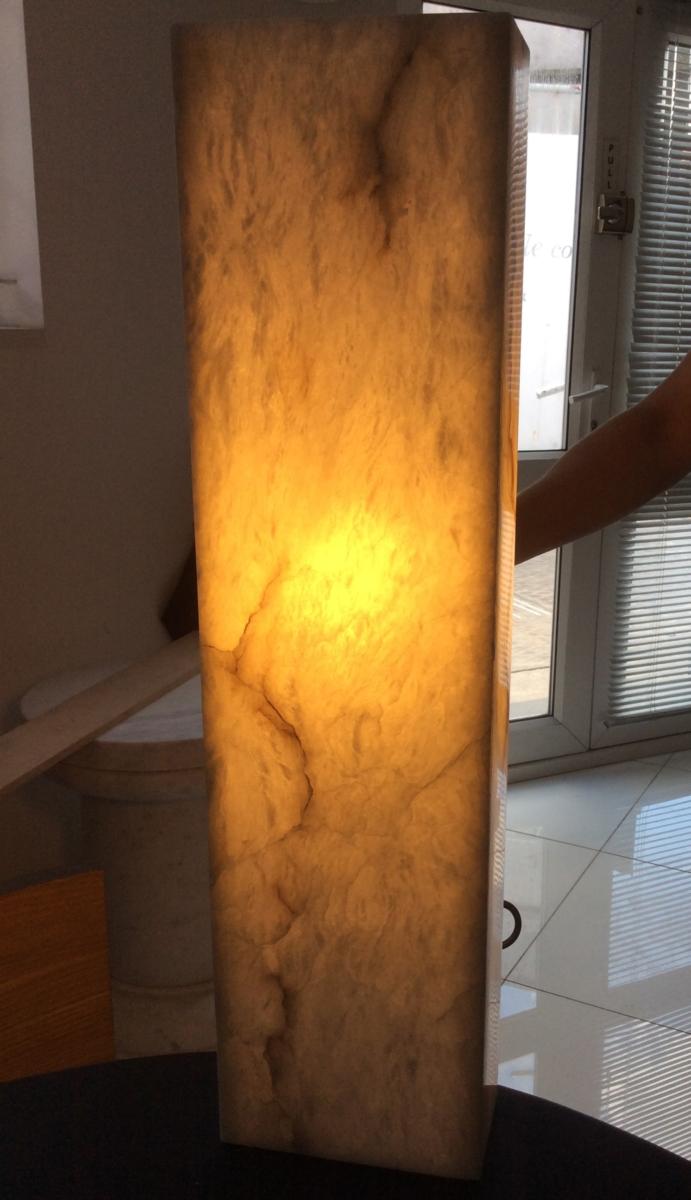 Alabaster Light Transparent Backlit Stone London