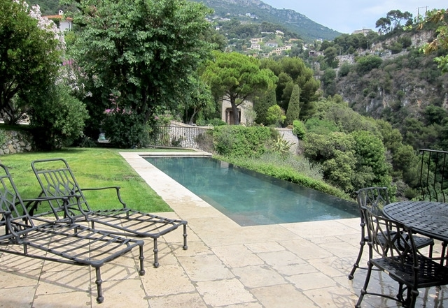 Antique Flagstone Travertine Pool South France