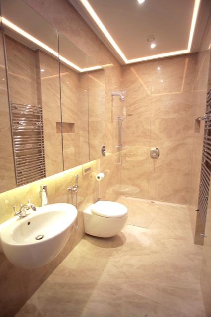 Bathroom Cappuccino Marble Honed Floor Polished Walls Slabs Showertray London
