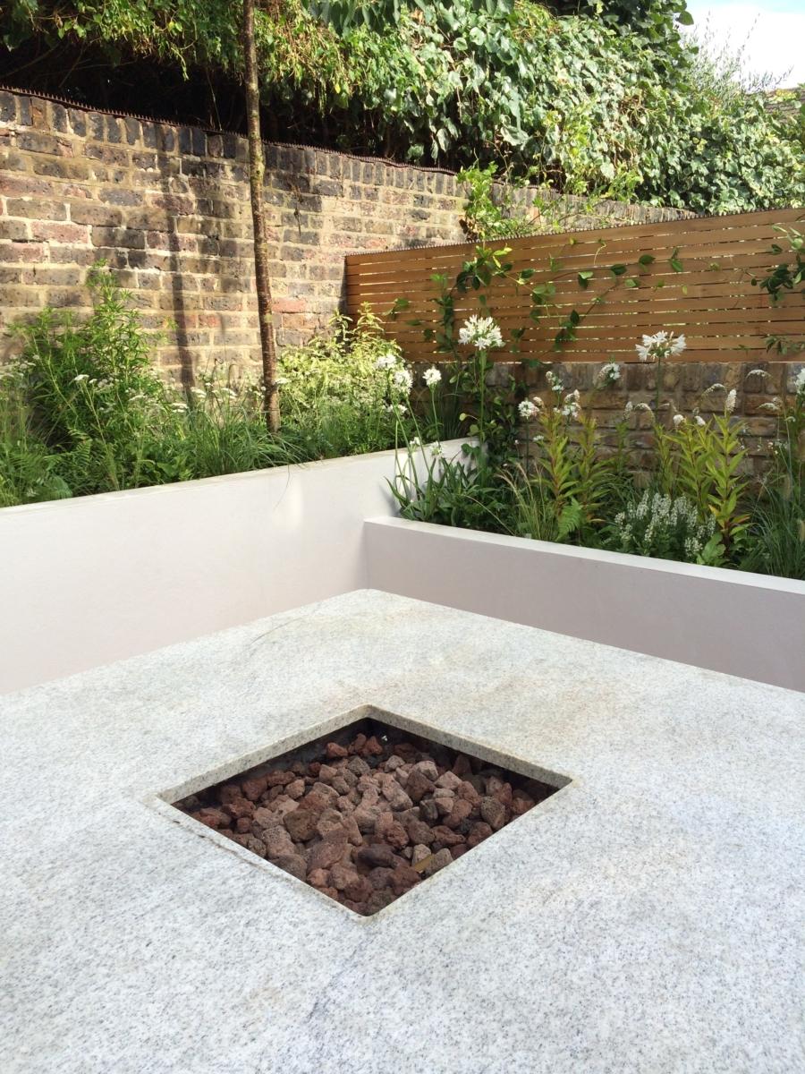 Bianco Sardo Granite Bbq Fire Pit Table Top London 2