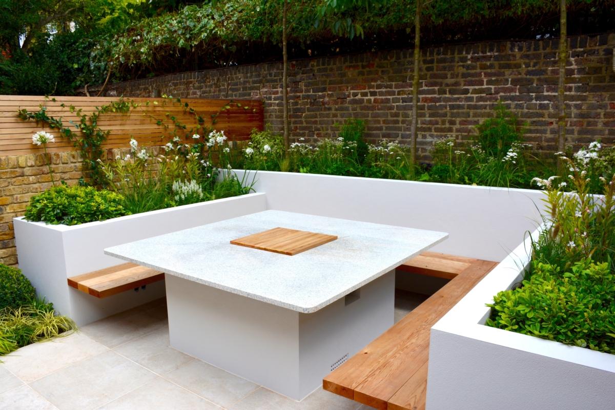 Bianco Sardo Granite Bbq Fire Pit Table Top London 3