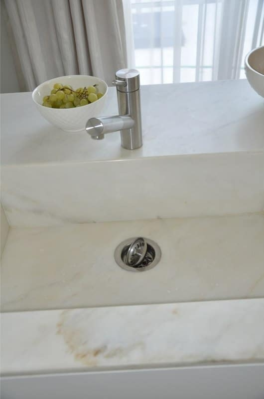 Calacatta Crema Cream Marble Kitchen Custom Sink