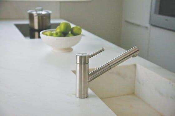 Calacatta Crema Cream Marble Kitchen Island With Sink In Same Material 2