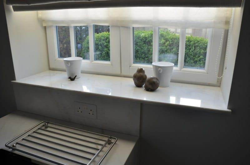 Calacatta Crema Cream Marble Splashback And Windowsill