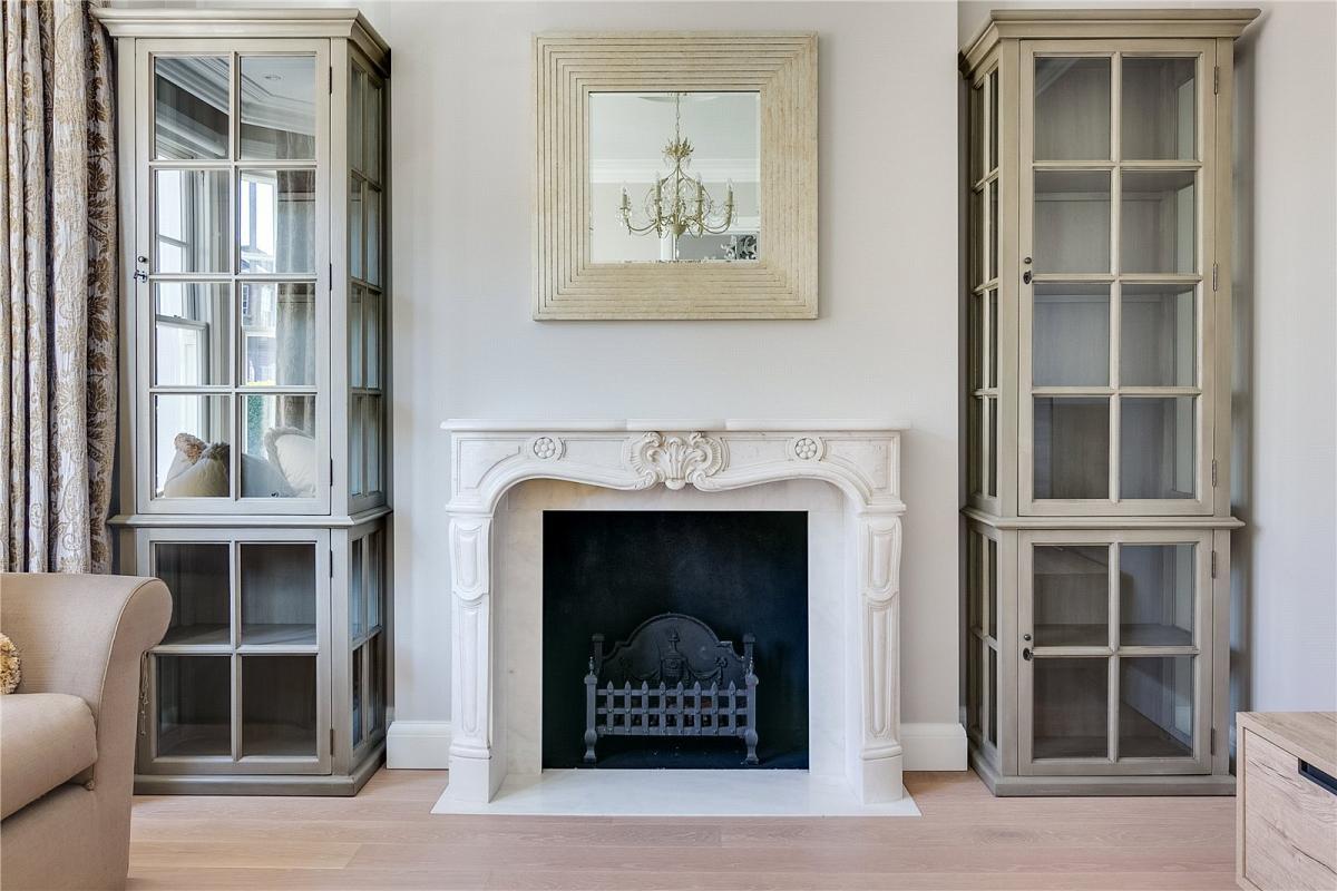 Calacatta Extra White Fireplace With Calacatta Crema Cream Fire Hearth And Slips
