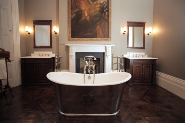 Calacatta Marble Vanity Tops With Calacatta Marble Fireplace London