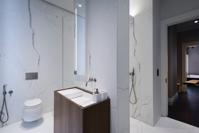Calacatta Special Marble Patternmatched Bookmatched Honed Bathroom Walls Floors London