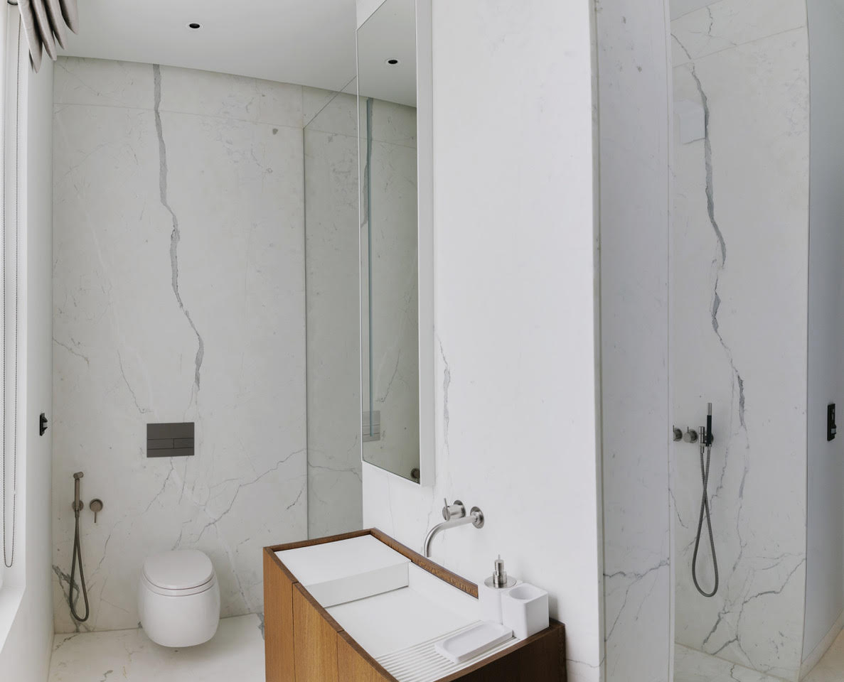 Calacatta Special Marble Patternmatched Bookmatched Honed Bathroom Walls Floors London 3