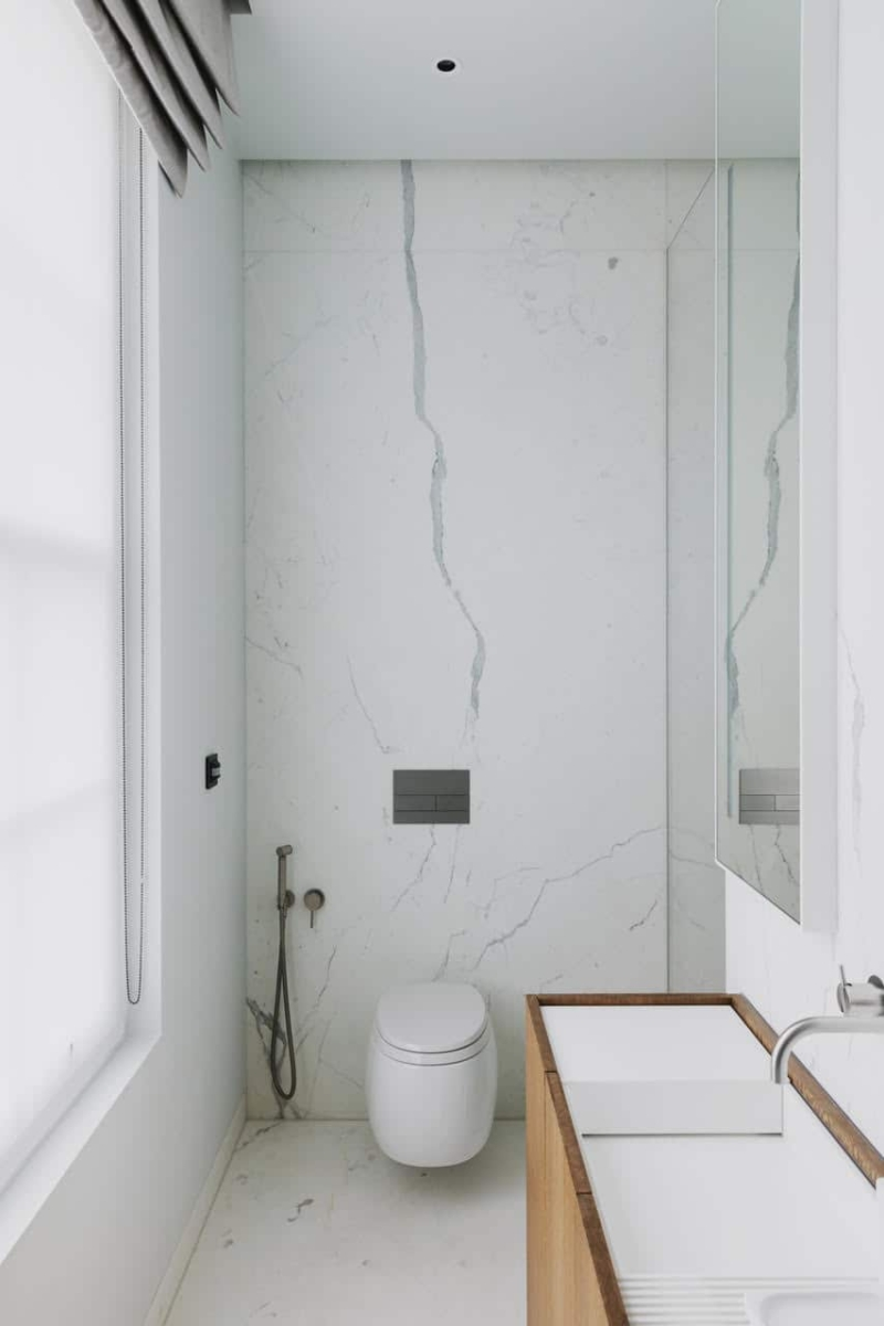 Calacatta Special Marble Patternmatched Bookmatched Honed Bathroom Walls Floors London 4