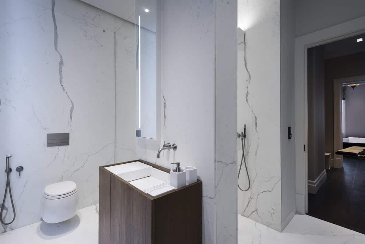 Calacatta Special Marble Patternmatched Bookmatched Honed Bathroom Walls Floors London 5