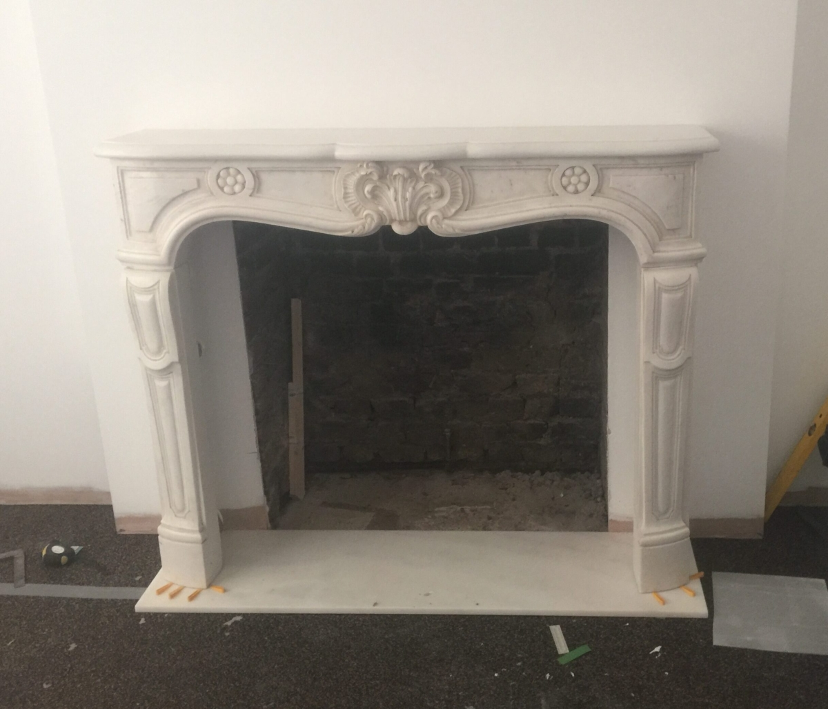 Carrara Marble Bianco P White Fireplace London