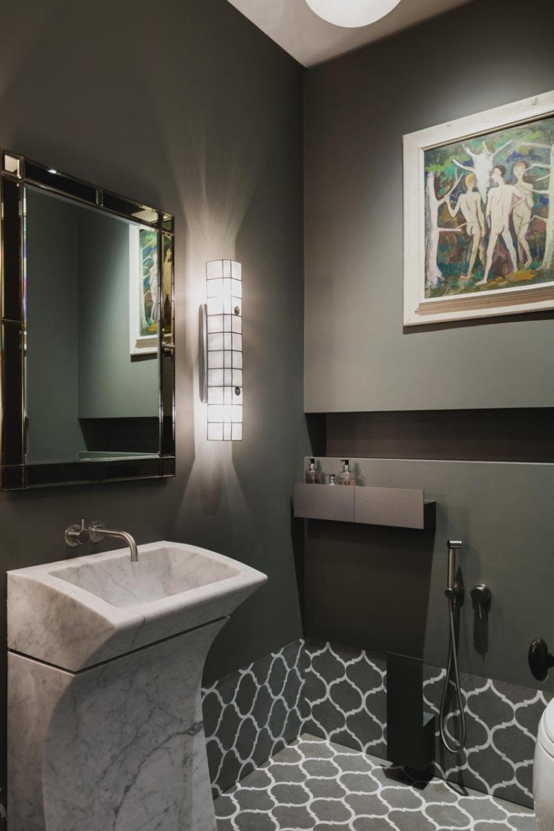 Carrara Marble Custom Made Sink Limestone Waterjet Cut Floor London
