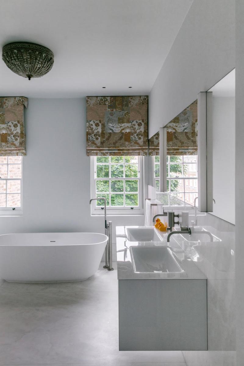 Crema Evora Marble Bathroom Sink Floor Walls Windows London