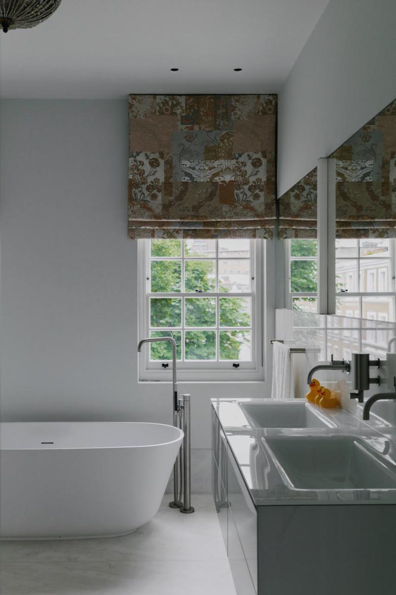 Crema Evora Marble Bathroom Sink Floor Walls Windows London Crop