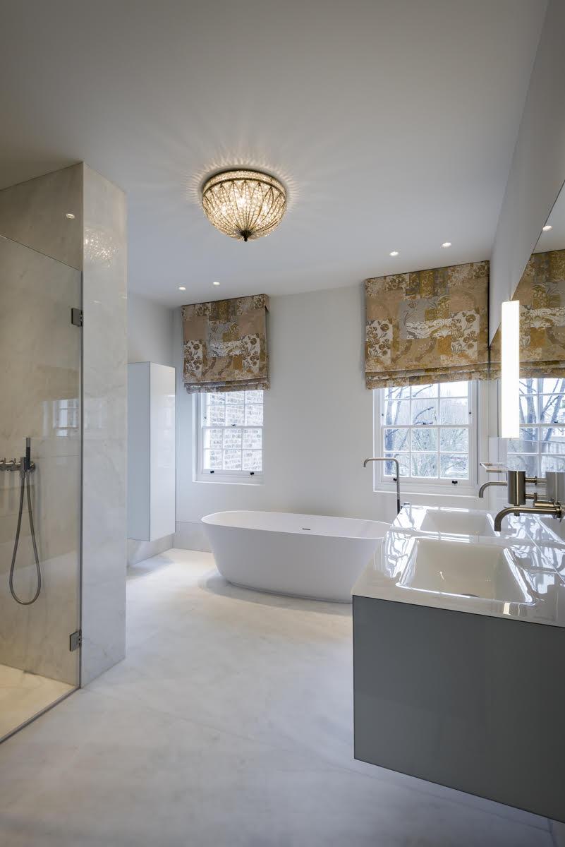 Crema Evora Marble Complete Bathroom Cladding Floor Walls London Portrait