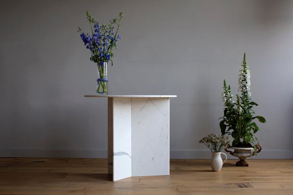 Custom Marble Side Table
