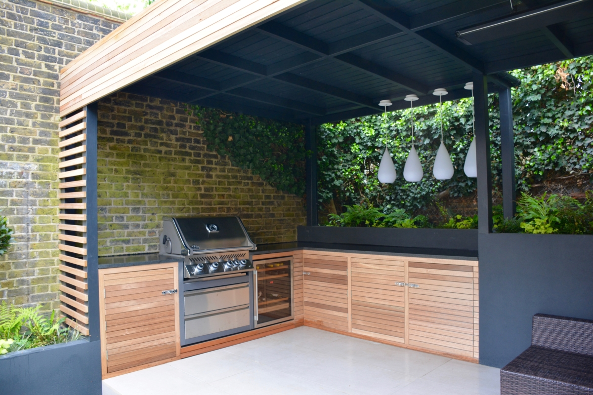 Honed Black Granite Bbq Kitchen Outdoor Worktop London