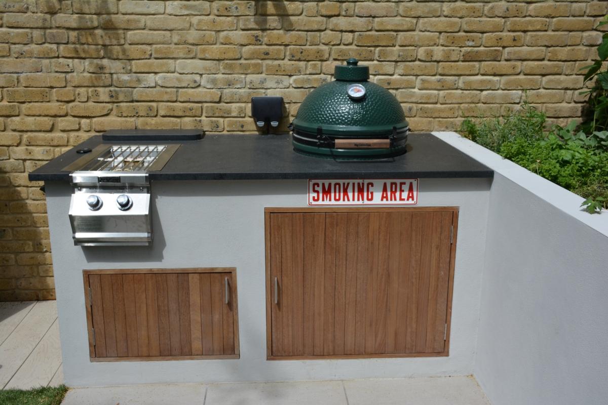 Honed Black Granite Bbq Kitchen Outdoor Worktop Smoker Bbq London