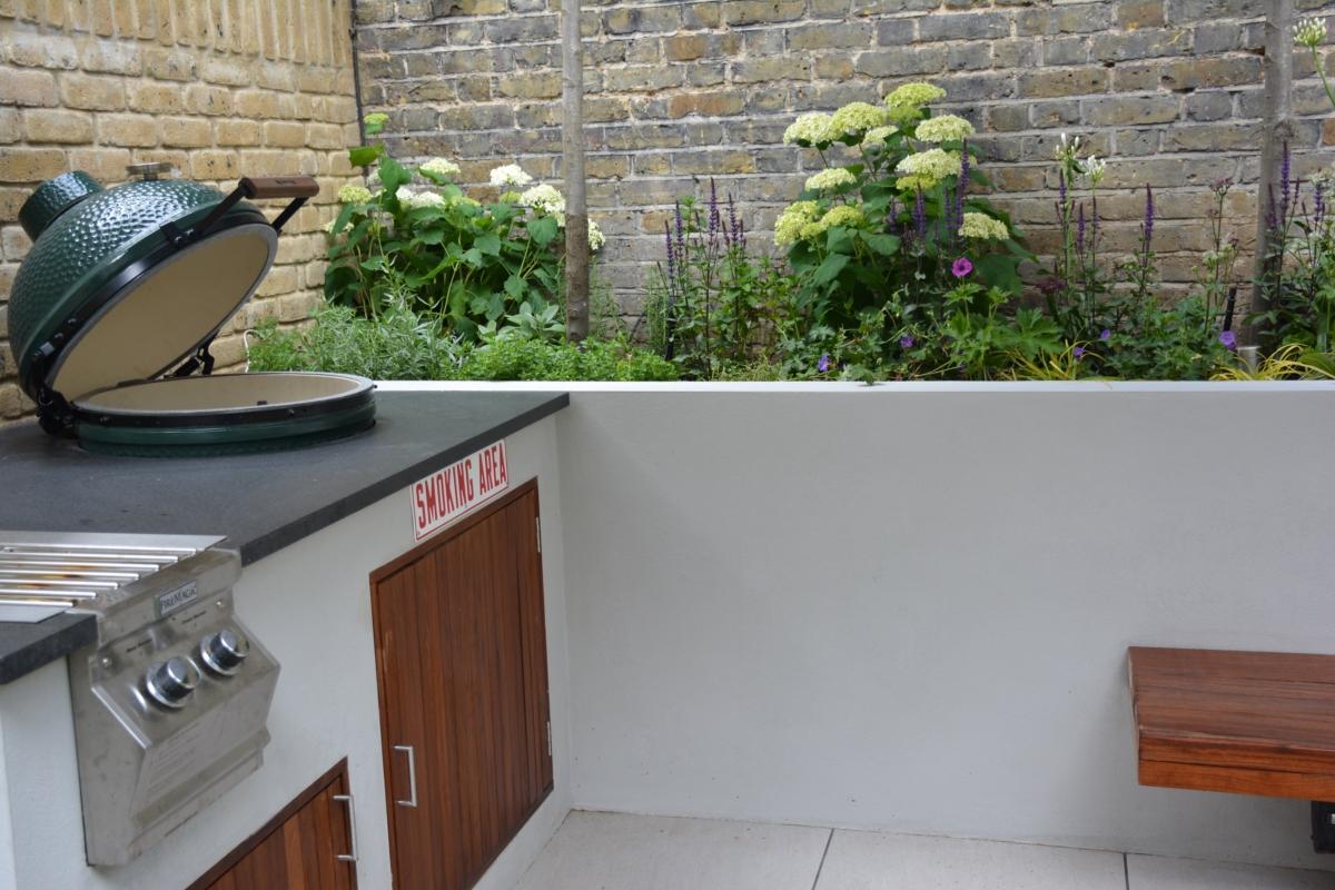 Honed Black Granite Bbq Kitchen Outdoor Worktop Smoker Bbq London 2