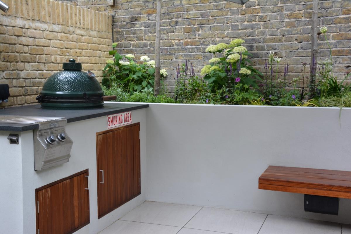 Honed Black Granite Bbq Kitchen Outdoor Worktop Smoker Bbq London 3