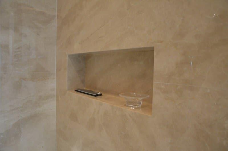 Light Emperador Marble From Turkey Shower Niche