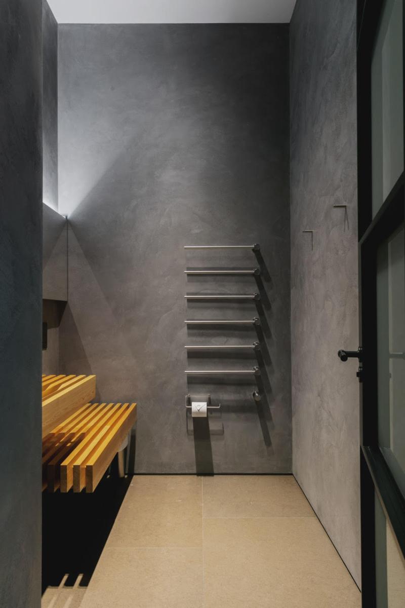 Limestone Bathroom Floor Honed Brown London 3