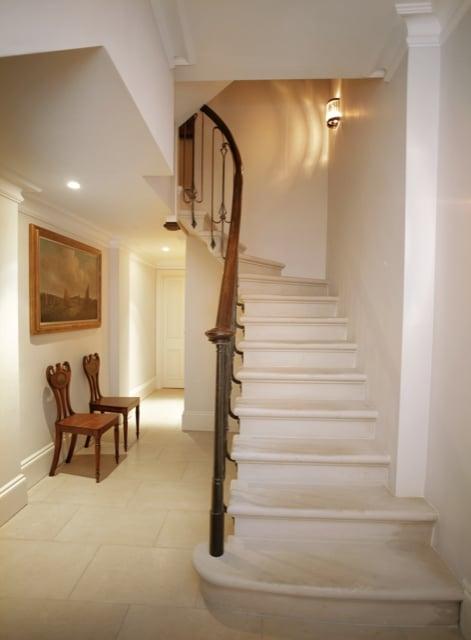 Limestone Counterbalance Staircase London