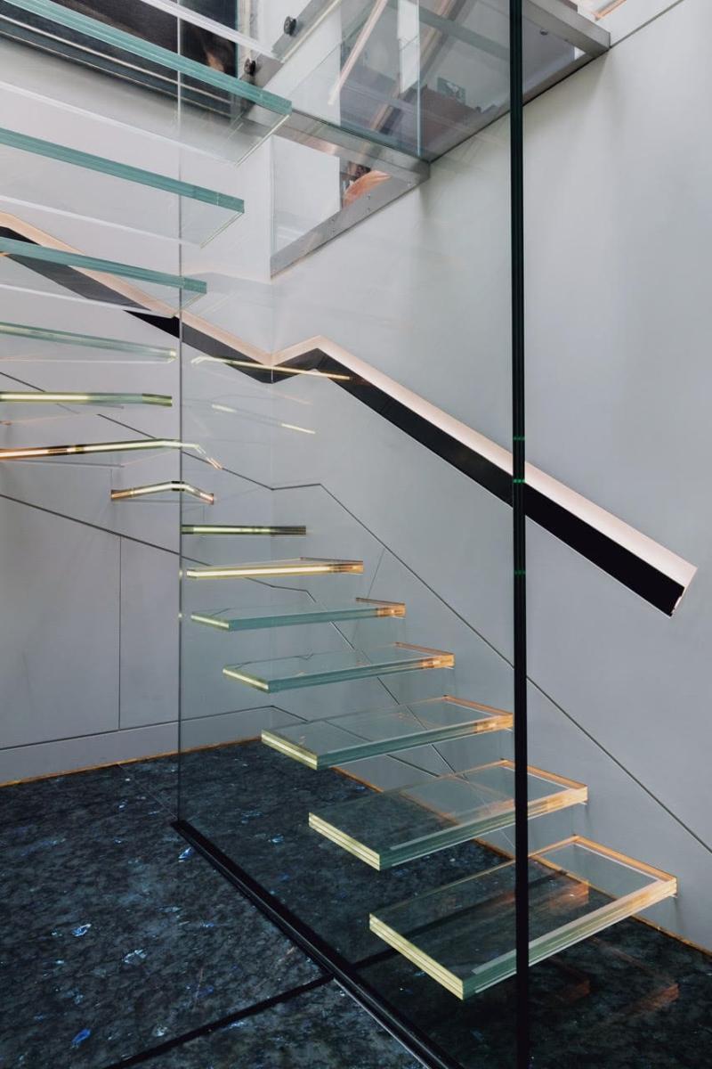 Madagascar Granite Steps Stairs Floor Sparkle Blue London 3