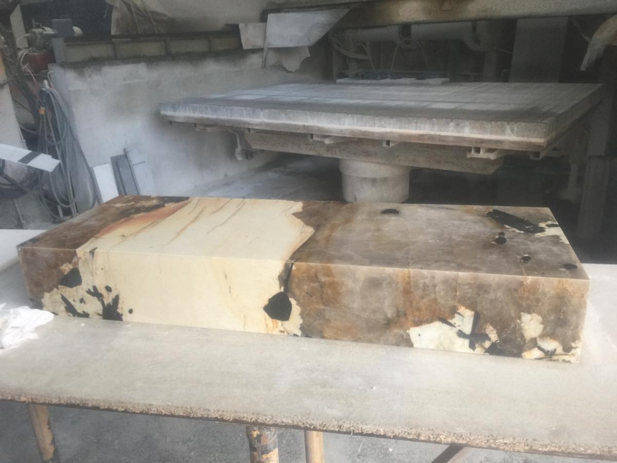 Onyx Slab London Work In Progress Factory Preparation