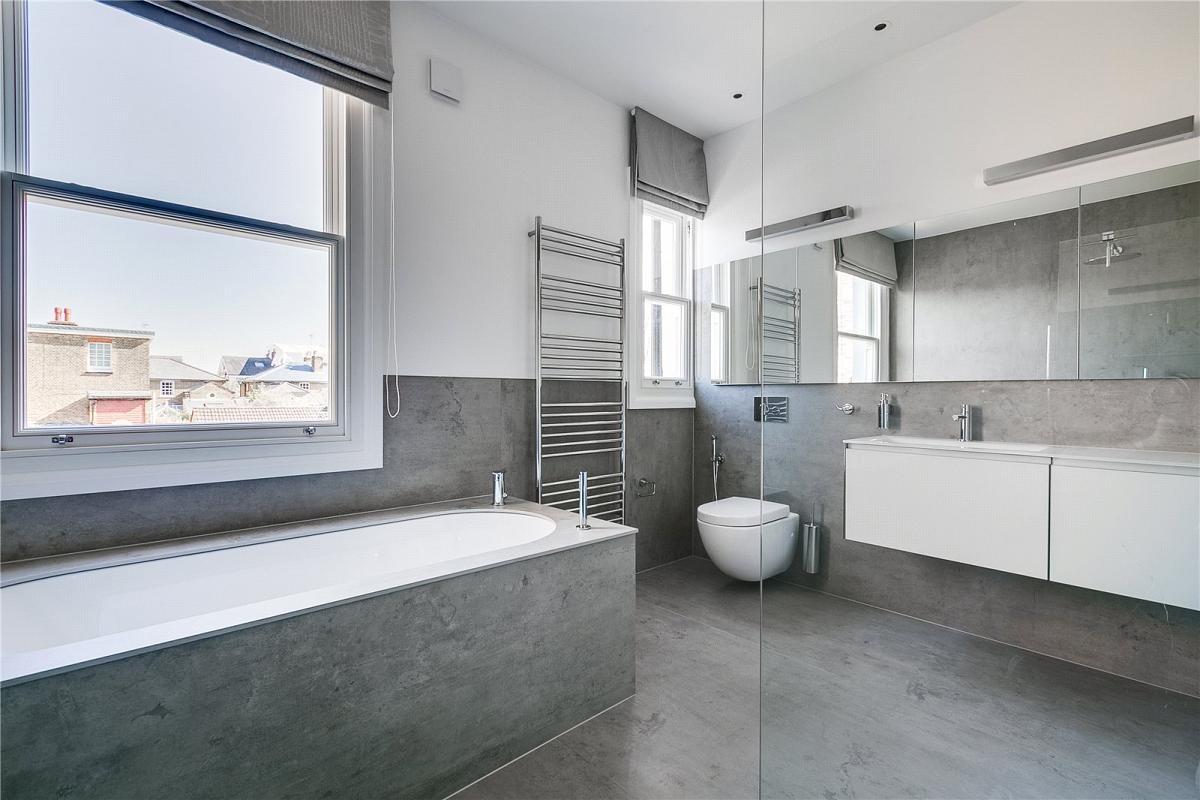 Porcelain Cement Betone Colour Bathroom Cladding Bath Panelling