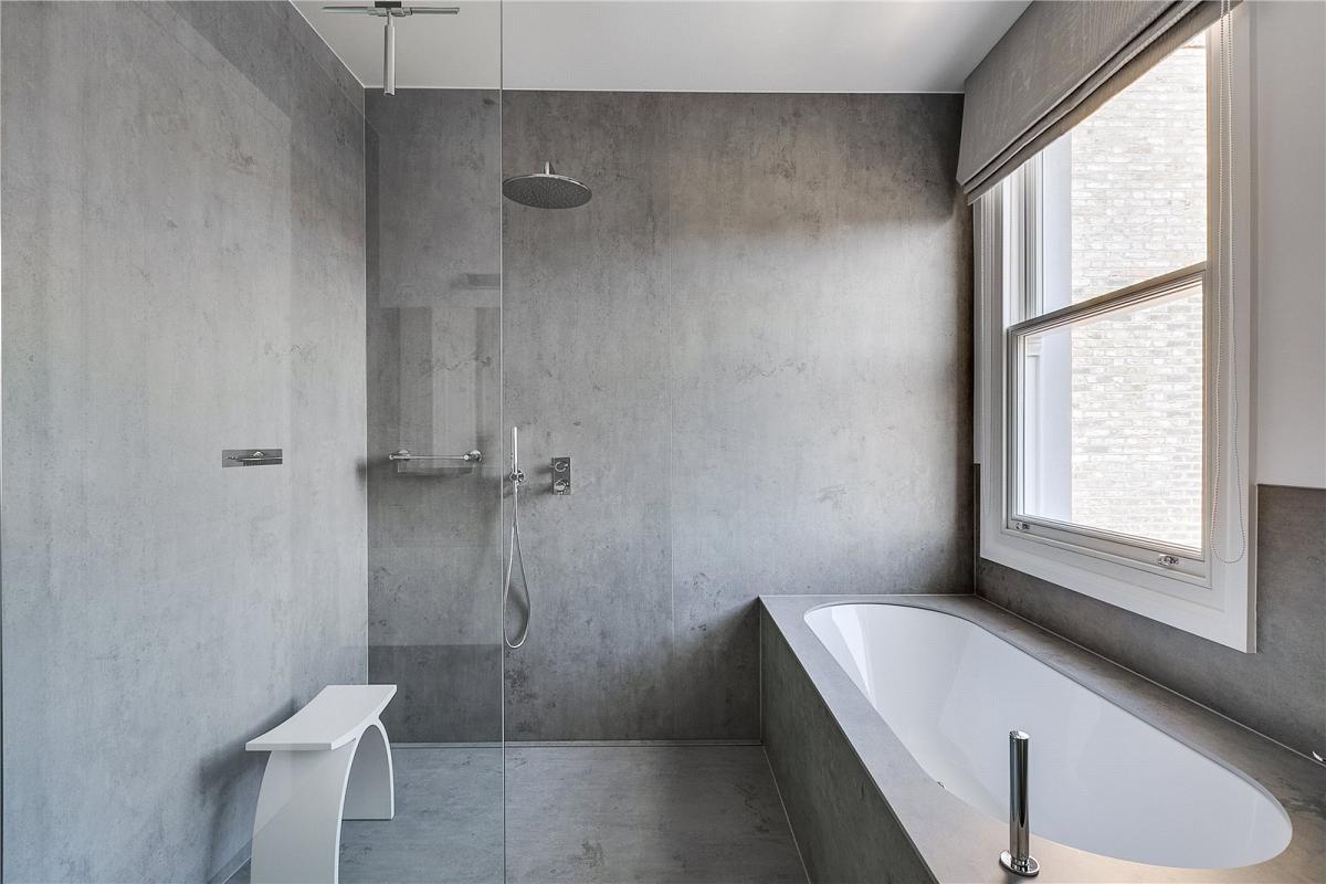 Porcelain Cement Betone Colour Bathroom Cladding Wall Cladding Bath Surround