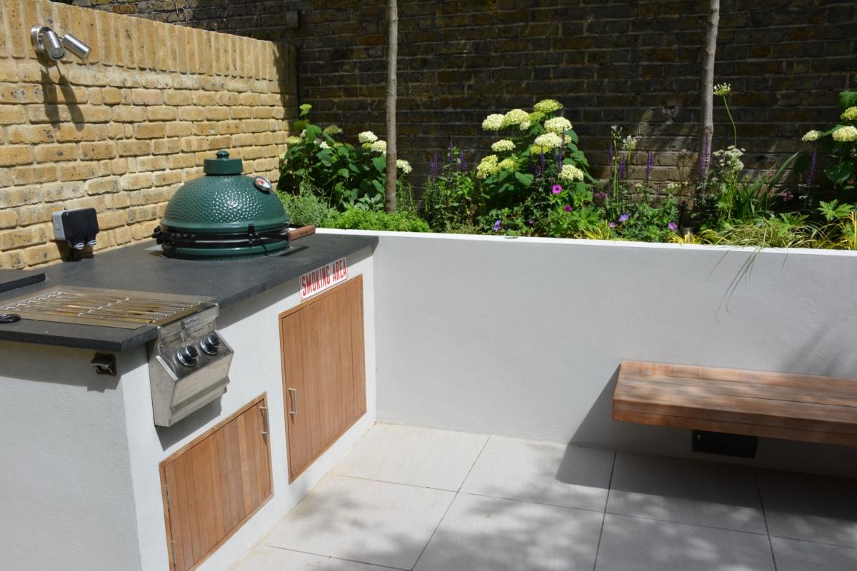 Porcelain Patio Floor Tiles Garden Honed Black Granite Outdoor Kitchen Worktop London Bbq 2