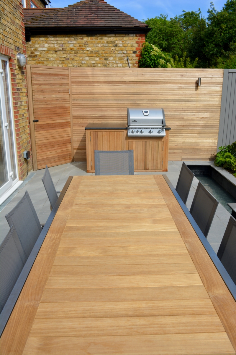 Porcelain Patio Floor Tiles Garden Honed Black Granite Outdoor Kitchen Worktop London Bbq 3