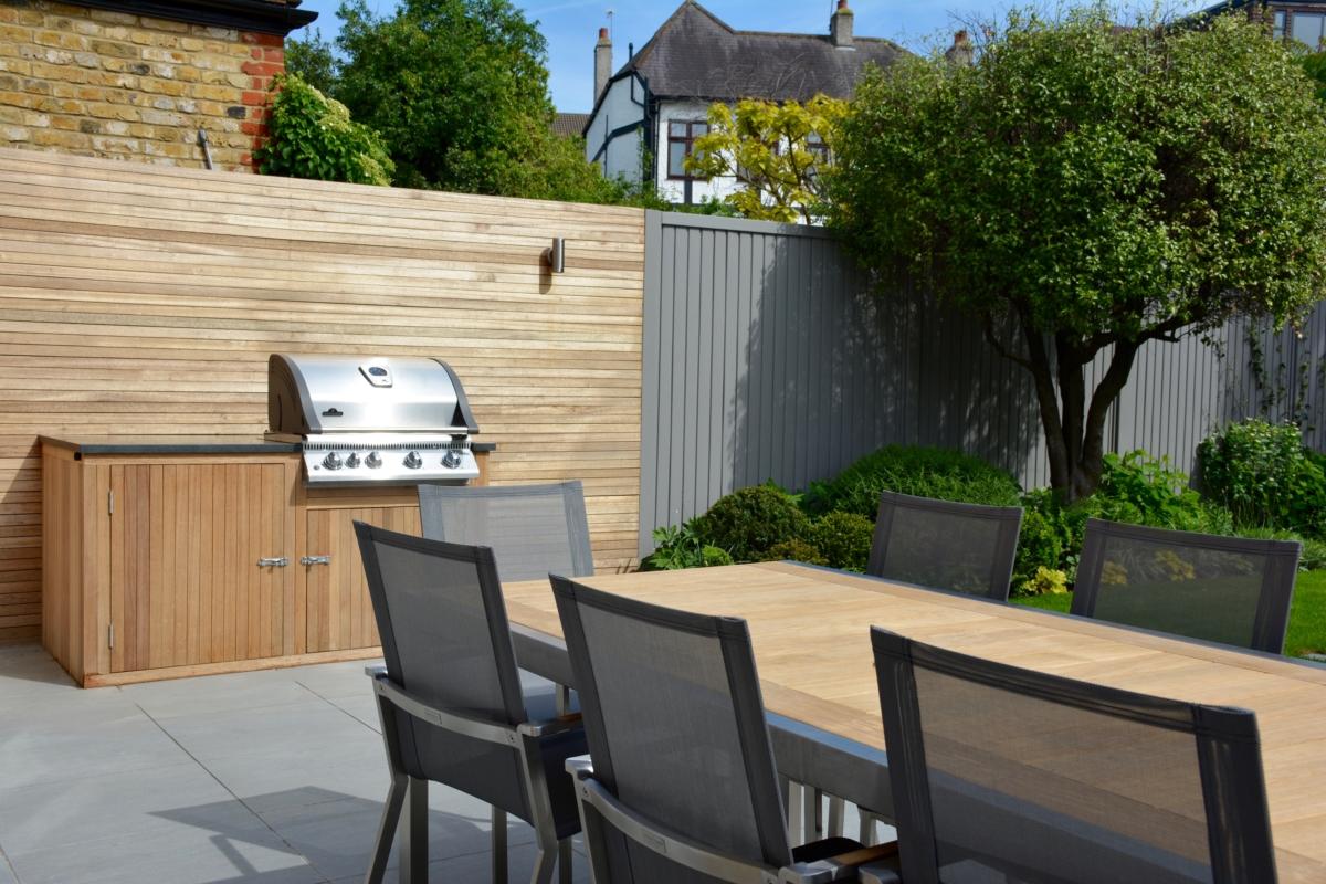 Porcelain Patio Floor Tiles Garden Honed Black Granite Outdoor Kitchen Worktop London Bbq 4