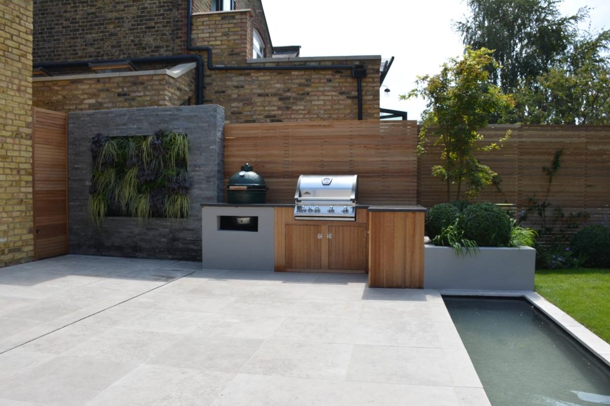Porcelain Patio Outdoor Floor Tiles Garden Water Feature London