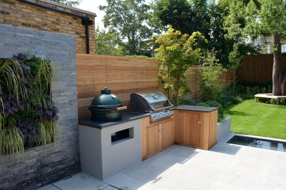 Porcelain Patio Tiles Garden Bianco Sardo Granite Bbq Worktop Water Feature London