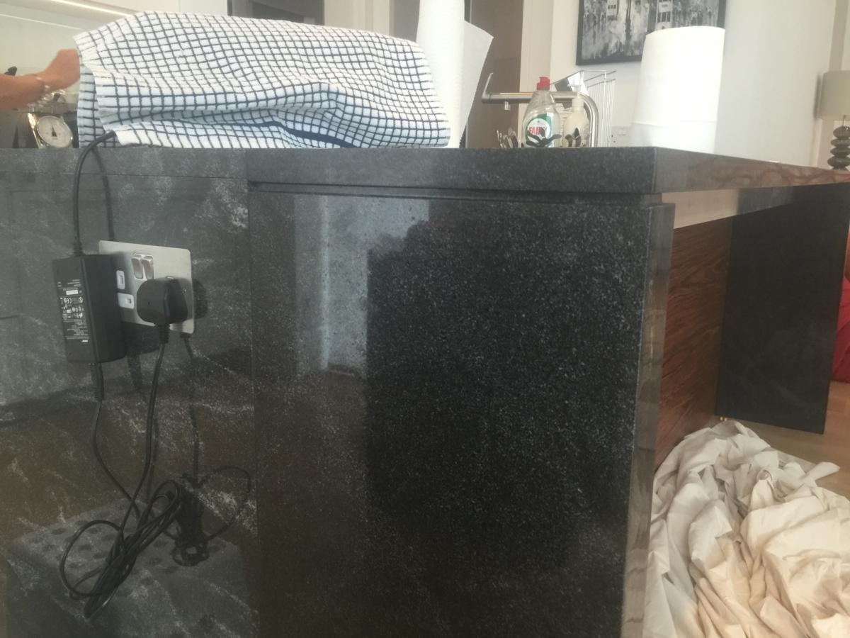 Stardust Granite Kitchen Island Extention Worktop With Support Shadow Gap London