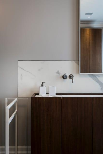 Statuario Porcelain Splashback Bathroom Vanity Top London
