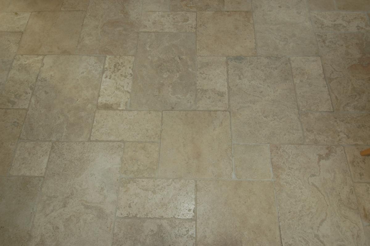 Travertine Honed Filled Tumbled Opus Roman Design Floor London