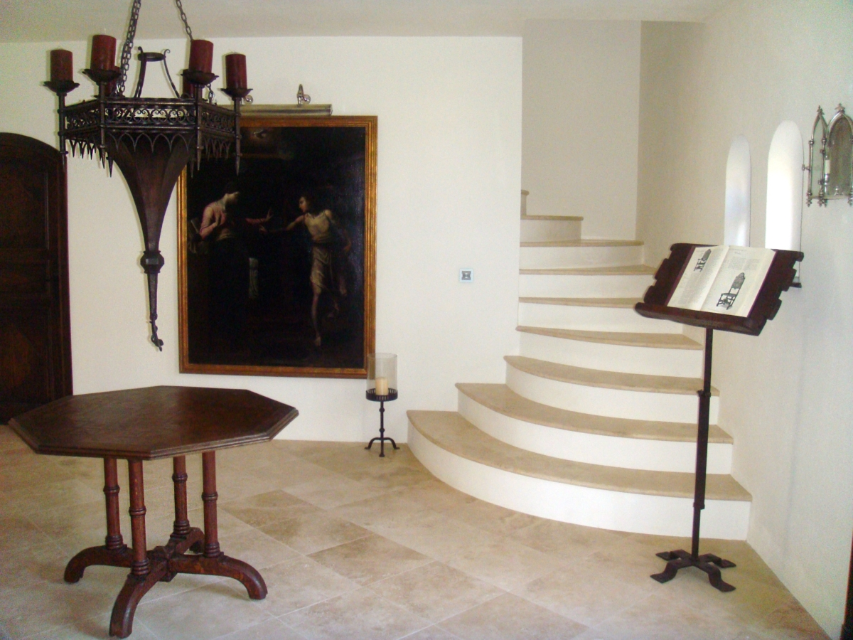 Travertine Marble Floor Step Stairs South France